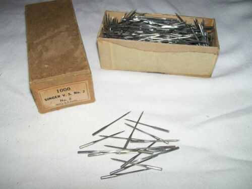 Box of over 700 Singer V. S. No. 2 Sewing Machine Needles