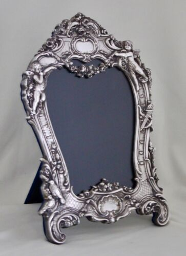 Garland 266 Sterling Silver Frame by The 925 Inc Cupids Birds Flowers Repousse'
