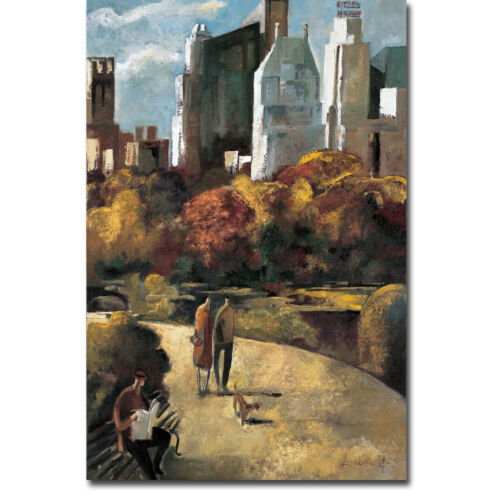 Central Park by Lourenco Gallery-Wrapped Canvas Giclee Art (36 in x 24 in)