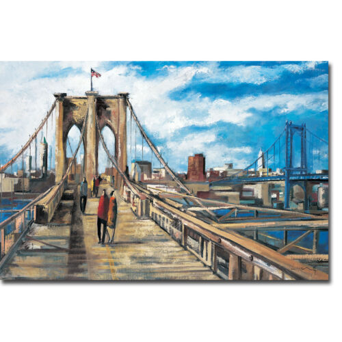 Brooklyn Bridge by Didier Lourenco Gallery-Wrapped Canvas Giclee (30 in x 45 in)