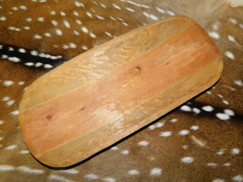 """Carved Wooden Dough Bowl Primitive Wood tray Trencher Baguette Decor 19 3/4"""""""