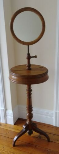 Antique Victorian Shaving Dressing Stand w/ Adjustable Mirror and Storage