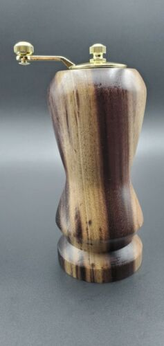 Salt and Peppermill 6 inches tall, Handmade from Blue Mahoe