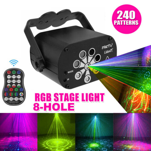 240 Patterns Disco Lights RGB Laser Projector Stage Lighting Party KTV Club Lamp