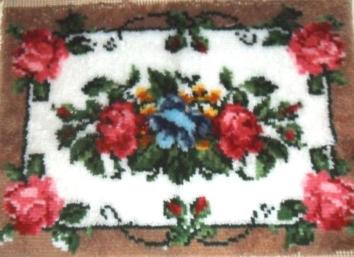 SHABBY ROSE CHIC COTTAGE AREA HAND MADE & CRAFTED UNFINISHED ACCENT RUG
