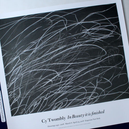 CY TWOMBLY 2018 EXHIBITION POSTER