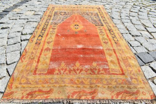 Fabulous Antique Awesome Collectors Piece Turkish Anatolian Sivas Distressed Rug