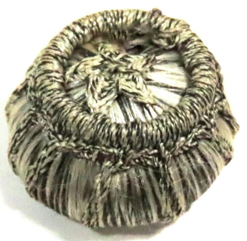 LOVELY ANTIQUE 1850'S-1880'S FRENCH VICTORIAN WOVEN SILK PASSEMENTARIE BUTTON