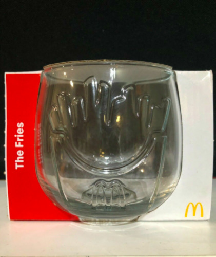 """MCDONALDS 2021 50 YEARS - """"THE FRIES"""" WOBBLING GLASS LIMITED EDITION - FREE POST"""