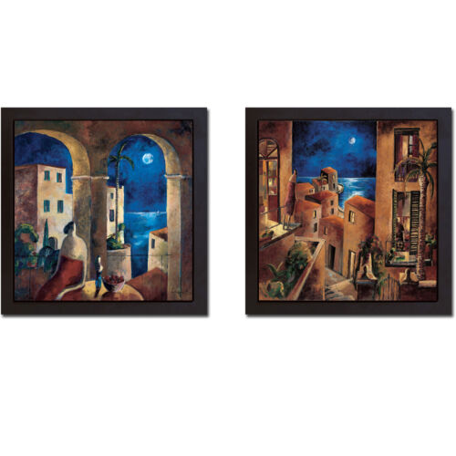 Floater-Framed Look at the Moon Canvas 2-pc Giclee Art Set (26 in x 26 in Ea Pc)