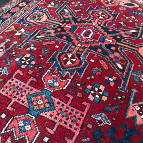 """C 1950 Authentic Vintage Exquisite Hand Made Rug 3' 9"""" x 11' 5"""" (INV#6366)"""