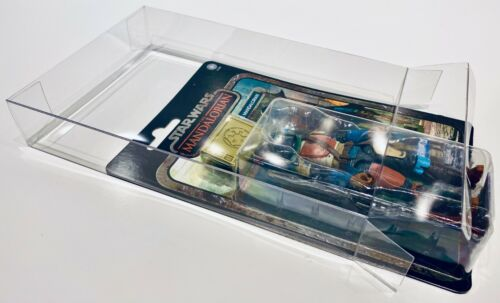 4 Box Protectors For Standard STAR WARS CREDIT COLLECTION Figures PLEASE READ!!