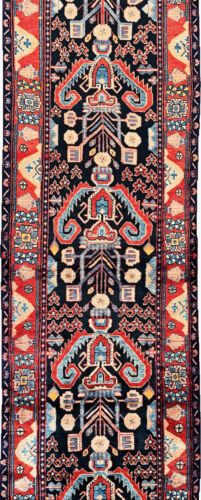 """C 1970 Authentic Vintage Exquisite Hand Made Rug 3' 6"""" x 16' (INV#5916)"""