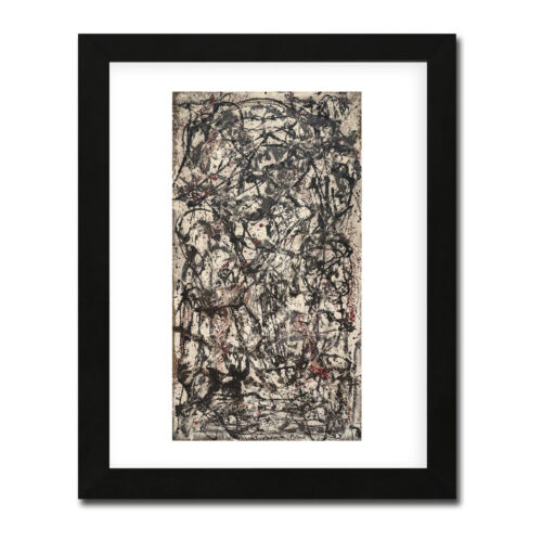 Enchanted Forest by Jackson Pollack Black-Framed Print (16 in x 13 in)