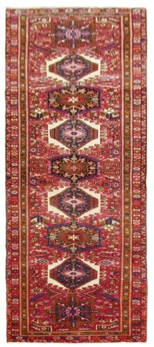 Hand Knotted Red Runner Tribal Wool Nomadic Oriental Rug 4 x 15