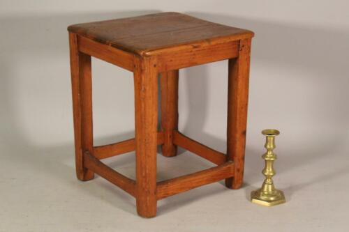 A RARE 18TH C NEW ENGLAND COUNTRY CHIPPENDALE PERIOD JOINT STOOL STRETCHER BASE