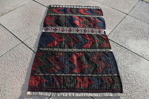 Fabulous Antique Tribal Art 1'6 x 2'7 ft. Collector's Piece Tribal Small Kilim