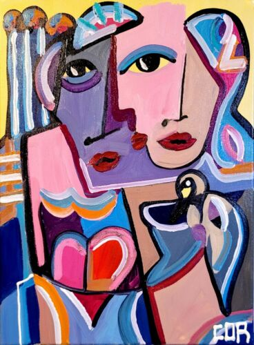 CUBISM EXPRESSIONISM FINE ART GALLERY CONTEMPORARY COLLECTIBLE CANVAS DESIGN NR