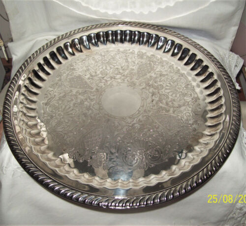 Viners Silverplate Vintage Serving 33cmW Serving Tray Excellent Condition