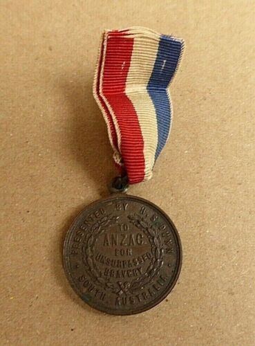 """WW1 AIF AUSTRALIAN 1917 TO """"ANZACS"""" FOR UNSURPASSED BRAVERY MEDAL BY  H.S DUNN 1914 - 1918 (WWI) - 13962"""