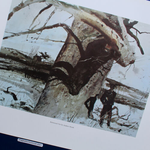 ANDREW WYETH TREE FINE ART LITHOGRAPH POSTER