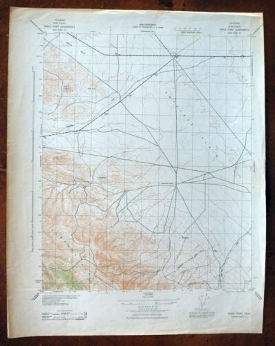 1943 Shale Point California Vintage Military Army Corp of Engineers Topo Map