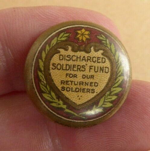 WW1 AIF AUSTRALIAN DISCHARGED SOLDIERS FUND  BUTTON DAY BADGE SMALL SIZE1914 - 1918 (WWI) - 13962