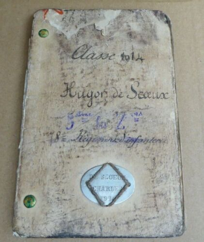 WW1 1914 FRENCH 78TH INFANTRY REGIMENT DOG TAG AND SOLDIERS PASS BOOK 1914 - 1918 (WWI) - 13962