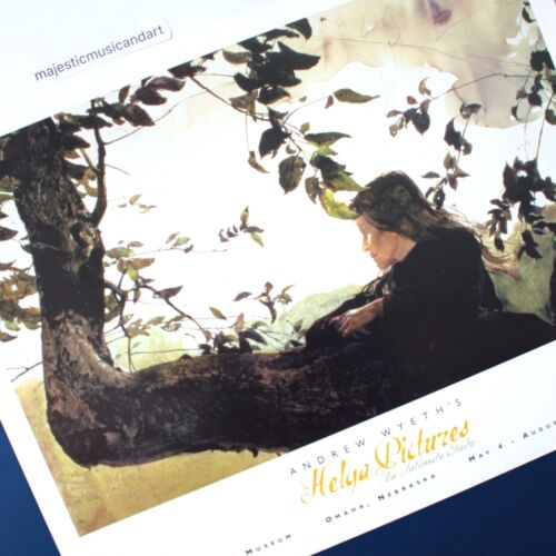 ANDREW WYETH 2002 HELGA PICTURES EXHIBITION POSTER