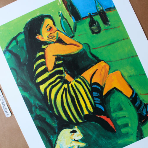 BEAUTIFUL VINTAGE ERNST LUDWIG KIRCHNER LITHOGRAPH POSTER GERMANY