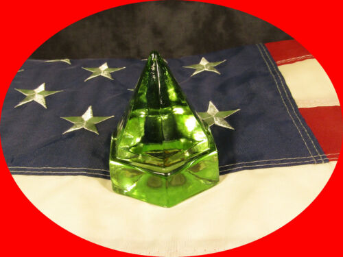 GREEN NAUTICAL GLASS PYRAMID SHIP BOAT DECK PRISM PORTHOLE * shipping included *