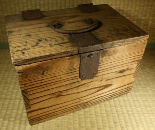 Antique Wooden Box / Japanese / Dated 1902