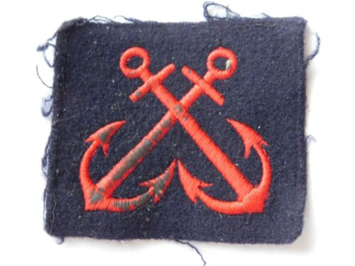 MARINE NATIONALE : INSIGNE ANCIEN ANCRES CROISEES / OLD FRENCH NAVY ARM PATCH