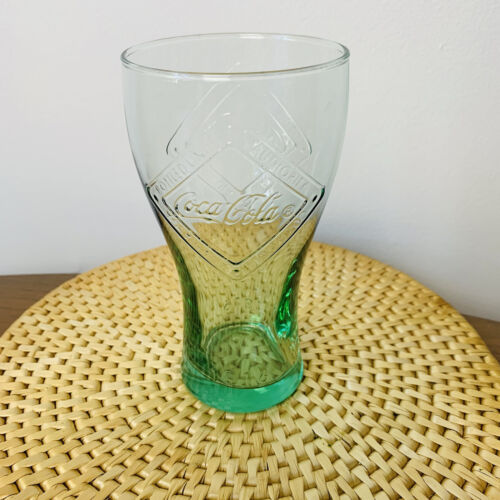 Collectable Coca Cola Glass Cup Green Made In France '1916' 360ml GUC Tumbler