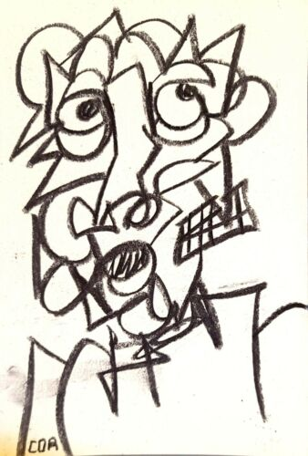 CUBISM PAINTING EXPRESSIONISM BASQUIAT STYLE MODERNIST NEW FINE ART HOME DECOR