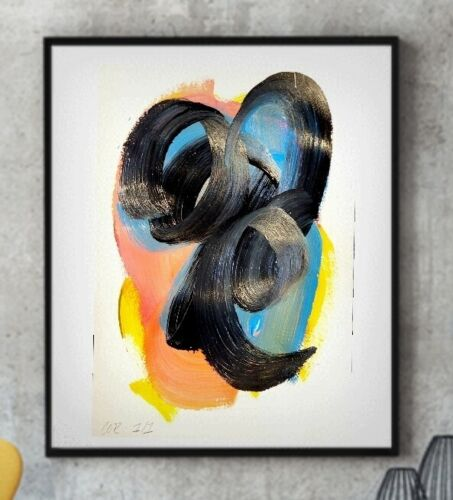 EXPRESSIONIST ABSTRACT FINE ART PAINTING CONTEMPORARY DESIGN WALL HOME DECOR