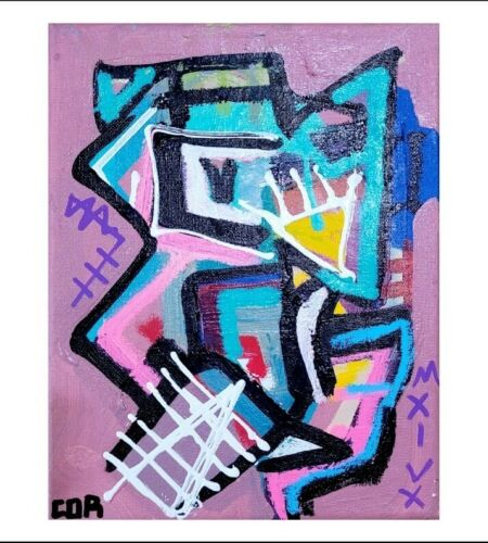 EXPRESSIONISM ABSTRACT PAINTING ORIGINAL ACRYLIC PORTRAIT DESIGN NEW HOME DECOR
