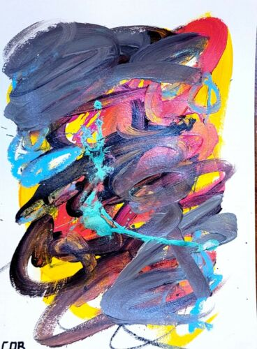ABSTRACT EXPRESSIONISM PAINTING ORIGINAL CONTEMPORARY FINE WALL ART HOME DECOR