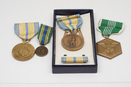 Vietnam War Army, Navy, USMC Medals & Ribbon With Box Lot Of 5