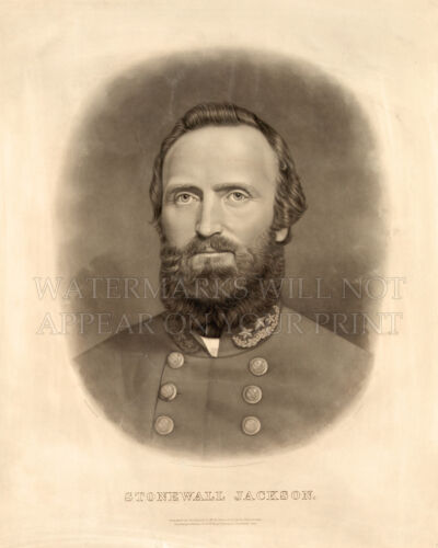 Stonewall Jackson 1871 print photo reproduction CHOICES 5x7 or request 8x10 or..