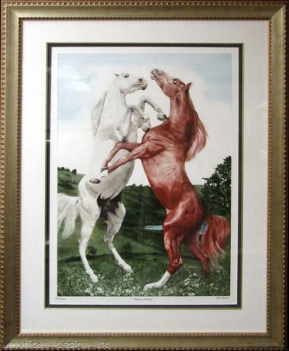G.H Rothe Power Play Gallery Framed Original Mezzotint Art LE ED SUBMIT AN OFFER