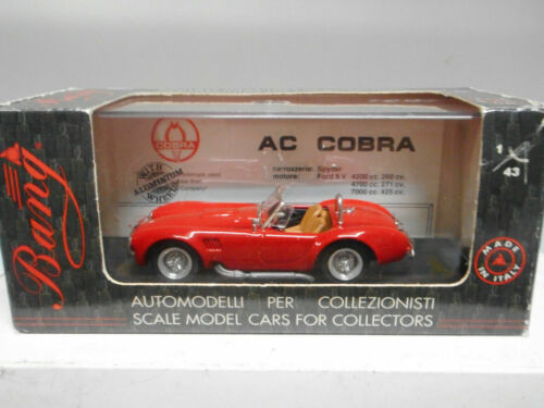 AC COBRA 427 SPECIAL STREET RED BANG 7115 MADE IN ITALY 1/43 ROSSO ROUGE METAL