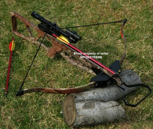 180LB CAMO HUNTING CROSSBOW  +LASER+SCOPE+BOLTS+HEADSCrossbows - 33972