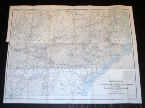 """""""Military Map of the Marches of US Forces of Sherman"""""""