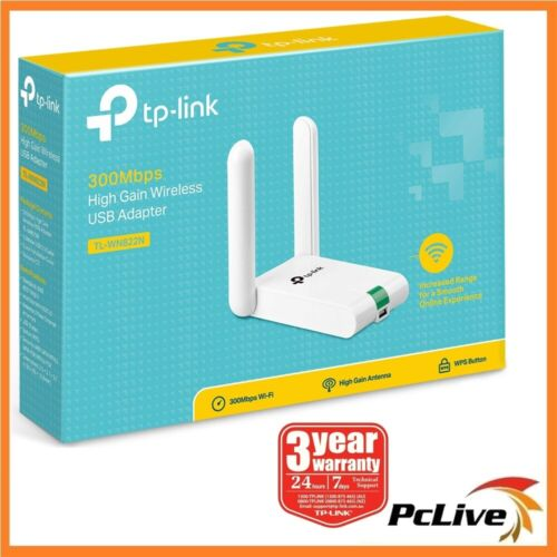 NEW TP-Link TL-WN822N 300Mbps High Gain Wireless N USB Adapter WIFI PC MAC Linux