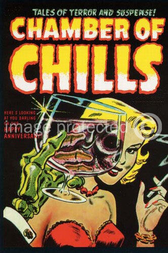 Chamber Of Chills Retro Cover Pulp Art Vintage Poster