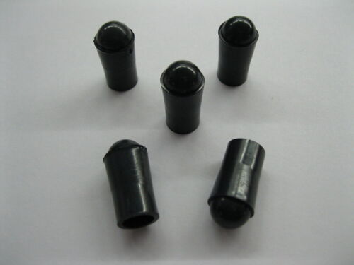 Top Holiday Gifts 5 Black Premium Rubber Pinball Machine Ball Plunger Shooter Tips FREE SHIPPING