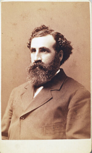 CDV - MINISTER WITH BEARD AND CURLY HAIR