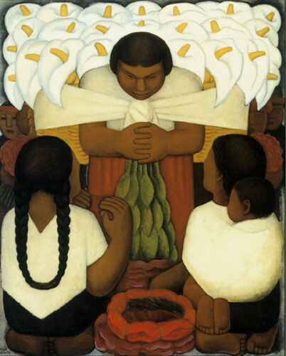 Flower Day 1925 by Diego Rivera Mexico Mexican Fine Art Poster Repro FREE S/H