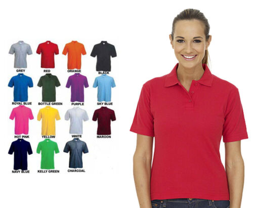 Ladies Lightweight Polo T Shirt Size 6 to 32 -  SPORT CASUAL & WORK POLO SHIRTS <br/> LIGHTWEIGHT & BREATHABLE SHORT SLEEVE POLO SHIRTS